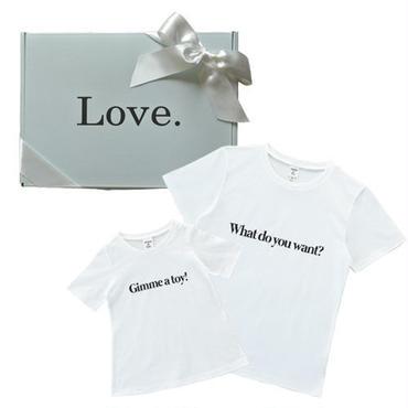 【Mens & Girls】メッセージTシャツ ギフトセット