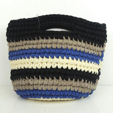 marbleSUD(マーブルシュッド) CUT CLOTHES Crochet  BAG BLACK  087M030127