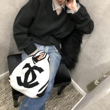 belt set knit(black)