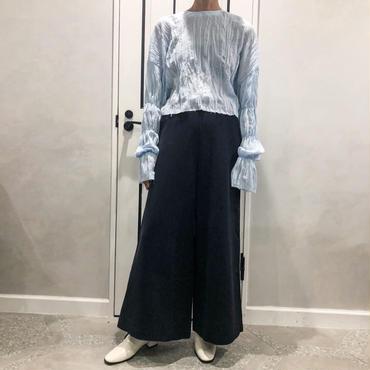 side zip wide pants