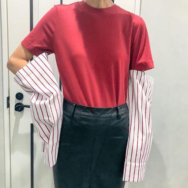 cutting long sleeve tshirt (red)