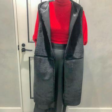 fur & down vest