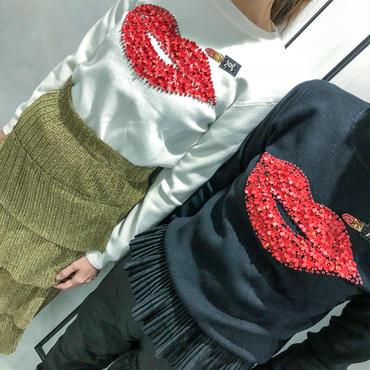 rip stick knit(white)