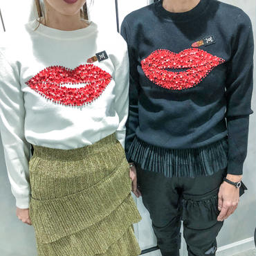 rip stick knit(black)