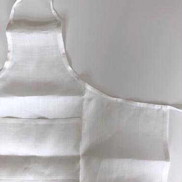 石井すみ子 「手摘み手織り苧麻エプロン・白」