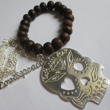 Kepala 2way Bracelet x Love&Peace Necklace - silver
