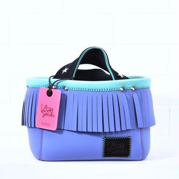 Lozz Sandra/fringe mini tote bag/Lavender fringe