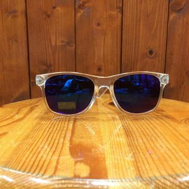 GLASSY(グラッシー) LEONARD CLEAR/BLUE MIRRORレンズ サングラス