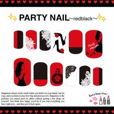【sold out】PARTY NAIL〜red black〜