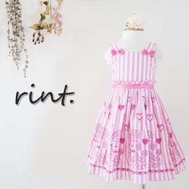 *6月10日12:00発売*ストライプ刺繍ワンピース ピンク《90~130》