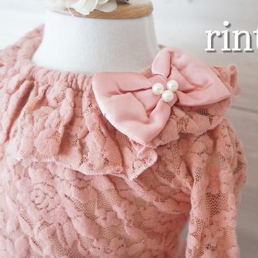 リボンフリルレーストップス ピンク《90~130》
