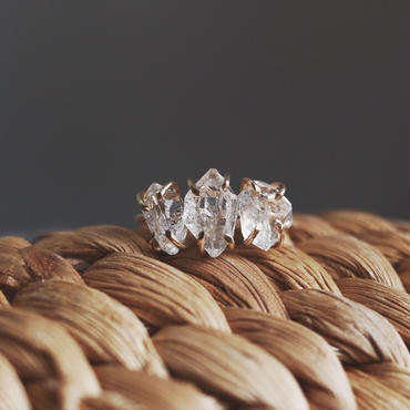 3 Harkimer diamond ring