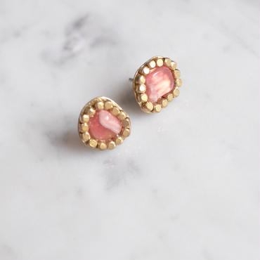 Gemstone  earrings「Inca rose」