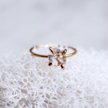 NY Herkimer diamond ring K14gf
