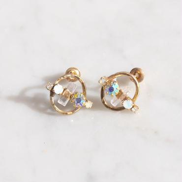 Tourmaline×Vintage Swarovski earrings