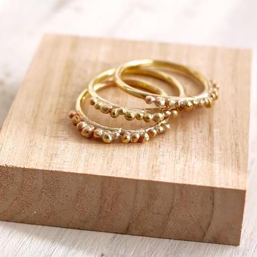 Brass dot ring