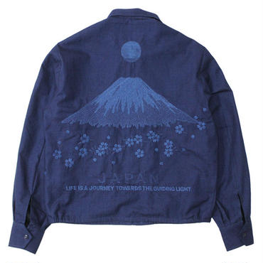 "BLUE BLUE JAPAN(ブルーブルージャパン)""インディゴソフトツイル フジトサクラ ジャパジャン"""