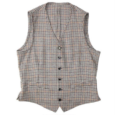 "LARDINI(ラルディーニ)""Wool Gunclub check Gillet"""