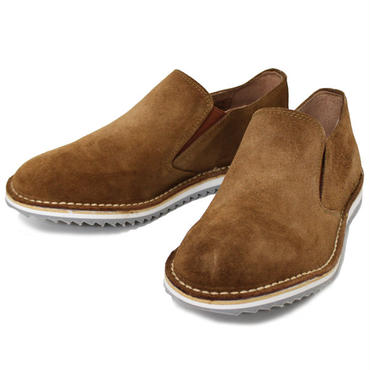 "NEPCO FOOTWEAR(ネプコ フットウェア)""Ripple Sole Suede Slip-On - Suede"""