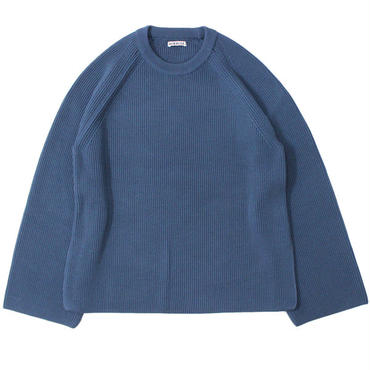 "Ladies' /AURALEE(レディース オーラリー)""SUPER FINE WOOL RIB KNIT RAGLAN P/O"""
