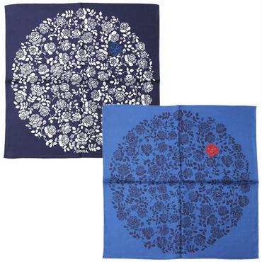 """BLUE BLUE JAPAN(ブルーブルージャパン)""""ブルーローズシルクバンダナ"""""""