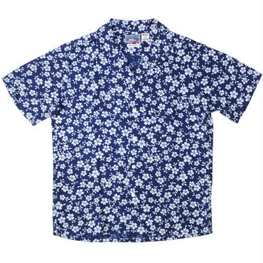 """BLUE BLUE JAPAN(ブルーブルージャパン)""""サクラマンカイバッセン インディゴ リヨセル SS アロハ"""""""
