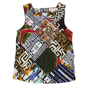 """FWK By ENGINEERED GARMENTS(エフダブリューケー バイ エンジニアド ガーメンツ)""""Square Neck Top - African Print"""""""