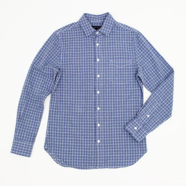 【SALE40%off】wings+horns(ウィングスアンドホーンズ)- Long-sleeve sashiko monogram plaid shirt - 定価¥30,240