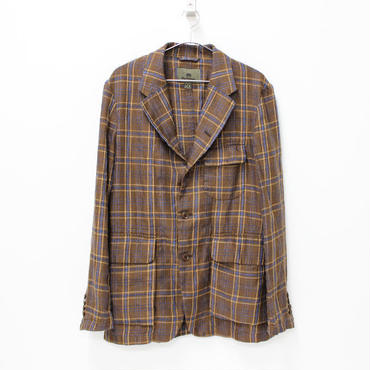 Nigel Cabourn(ナイジェルケーボン)- MALLORY JACKET (Linen Ramie Check) -BROWN