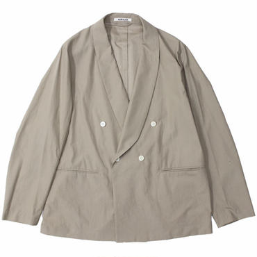 "AURALEE(オーラリー)""WASHED FINX TWILL SHAWL COLLAR JACKET"""