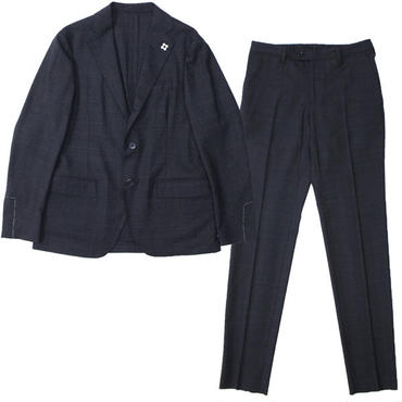 "LARDINI(ラルディーニ)""Stretch Wool GlenCheck 3B Packable Suit [EASY WEAR]"""