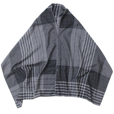 "Engineered Garments(エンジニアードガーメンツ)""Button Shawl - Worsted Wool Plaid"""