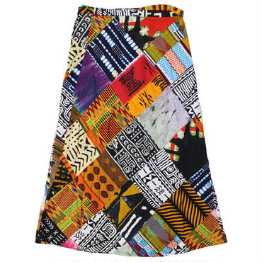 "FWK By ENGINEERED GARMENTS(エフダブリューケー バイ エンジニアド ガーメンツ)""Long Wrap Apron Skirt - African Print"""