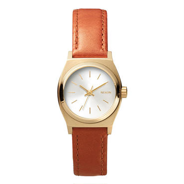 """Ladie's /NIXON(ニクソン)""""THE SMALL TIME TELLER LEATHER """" LIGHT GOLD/SADDLE"""