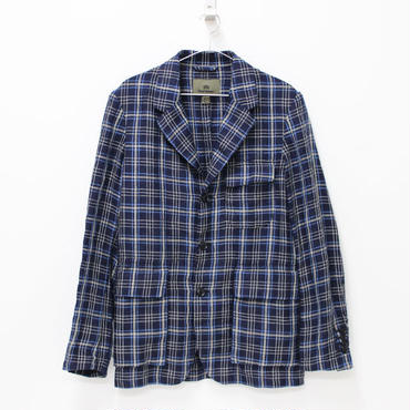 Nigel Cabourn(ナイジェルケーボン)- MALLORY JACKET (Linen Ramie Check) -NAVY