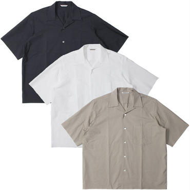 "AURALEE(オーラリー)""SELVEDGE WEATHER CLOTH HALF SLEEVED SHIRTS"""