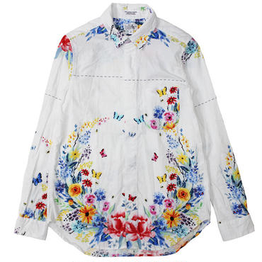 "FWK By ENGINEERED GARMENTS(エフダブリューケー バイ エンジニアド ガーメンツ)""Short Collar Shirt - Multi Color Floral Print"""