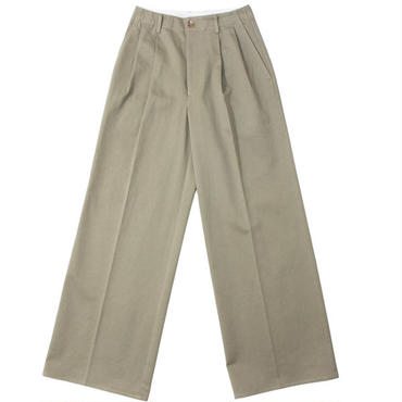 "Ladies' /AURALEE(レディース オーラリー)""WASHED FINX CHINO WIDE TUCK PANTS"""