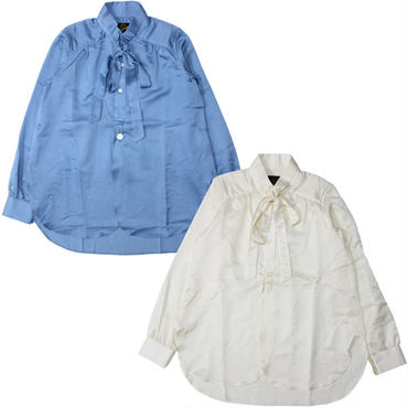 "Ladies' /NEEDLES WOMAN(ニードルス ウーマン)""Ascot Collar EDW Gather Shirt - C/S Sateen"""