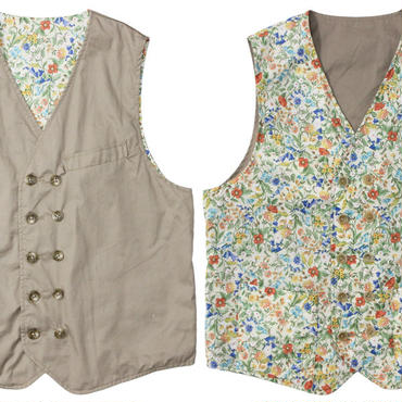 "FWK By ENGINEERED GARMENTS(エフダブリューケー バイ エンジニアド ガーメンツ)""Reversible Vest - High Count Twill"" khaki"