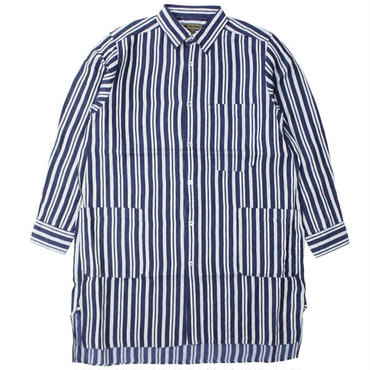 "Nigel Cabourn(ナイジェルケーボン)""SLEEP SHIRT [LINEN HICKORY]"""