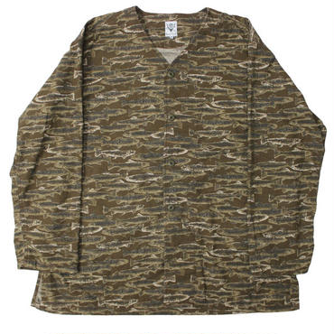 "South2 West8 (サウスツーウエストエイト)""V Neck Army Shirt - Printed Flannel / Camouflage"""