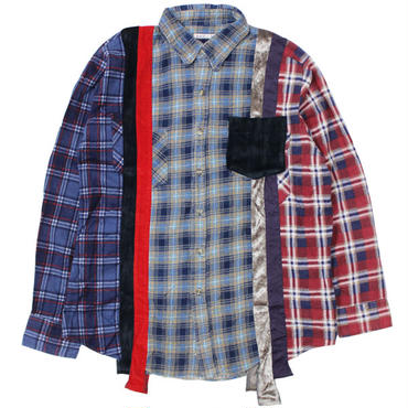 "REBUILD BY NEEDLES(リビルドバイニードルス)""7 Cuts Flannel Shirt - Inserted 4 Cluths"" sizeM"