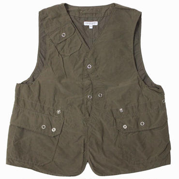 "ENGINEERED GARMENTS(エンジニアード ガーメンツ)""Upland Vest - 4.5oz Waxed Cotton"""
