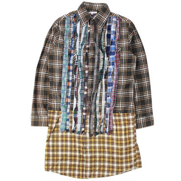 "Ladies' /REBUILD BY NEEDLES(レディース リビルドバイニードルス)""Flannel Shirt -> Ribbon Dress"""