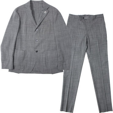 "LARDINI(ラルディーニ)""Stretch Wool Check 3B Packable Suit [EASY WEAR]"""