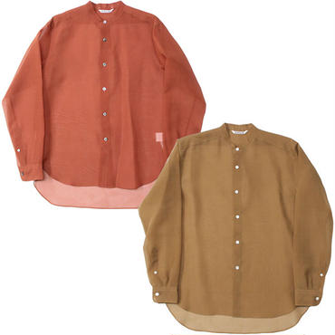 "Ladies' /AURALEE(レディース オーラリー)""SILK LOAN BAND COLLAR SHIRTS"