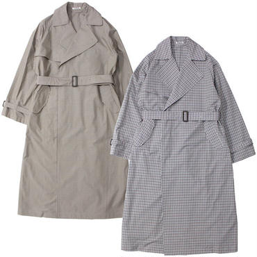 "Ladies' /AURALEE(レディース オーラリー)""FINX WEATHER CLOTH CHECK BIG TRENCH COAT"""