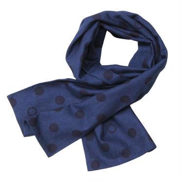 """BLUE BLUE JAPAN(ブルーブルージャパン)""""インディゴオーバーバブルドット ストール"""""""