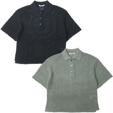 "Ladies' /AURALEE(レディース オーラリー)""FLAT YARN MESH KNIT POLO"""